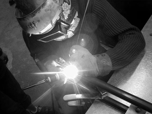 person TIG welding